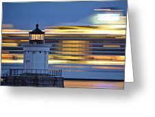 Bug Light Cruise Ship Greeting Card