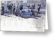 Bugatti 35c Monaco Gp 1930 Louis Chiron  Greeting Card
