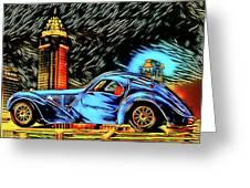 Bugatti Type 57 Atlantic 1930ies Greeting Card