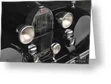 Bugatti Type 57 In Black Greeting Card