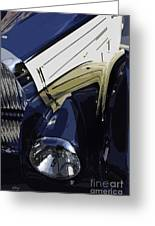 Bugatti Type 57 In Blue And White Greeting Card