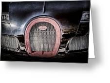 Bugatti Veyron Legend Grille Emblem -0488ac Greeting Card