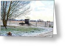 Buggy Alone In Winter Greeting Card