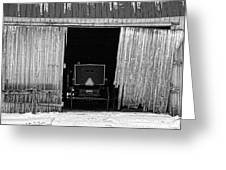 Buggy In The Barn Greeting Card