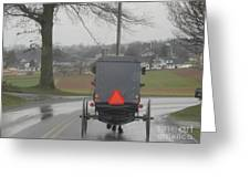 Buggy Ride After The Storm Greeting Card