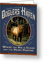 Buglers Haven Sign Greeting Card