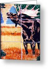 Bugling Moose Greeting Card by Dy Witt