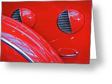 Buick Lasalle Portholes And Fender #3 Greeting Card
