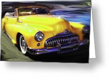 Buick Time Warp Greeting Card