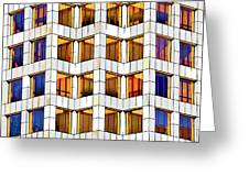 Building Abstract IIid Greeting Card