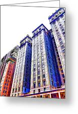 Building Closeup In Manhattan 15 Greeting Card