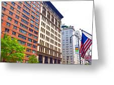 Building Closeup In Manhattan 5 Greeting Card