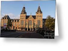 Building Exterior Of Rijksmuseum. Amsterdam. Holland Greeting Card