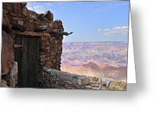 Building On The Grand Canyon Ridge Greeting Card
