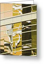 Building Reflection Abstract Color. Greeting Card