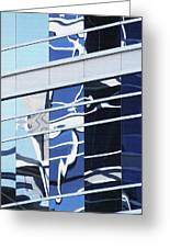 Building Reflection True Color Greeting Card