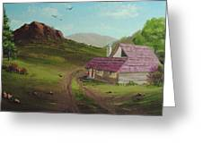 Buildings In Landscape Greeting Card