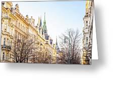 Buildings In Prague Greeting Card