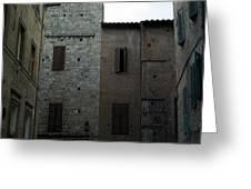 Buildings On A Side Street In Siena Greeting Card