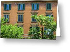 Buildings Opposite The Vatican Museum Greeting Card