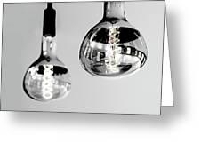 Bulbs - Black And White Greeting Card