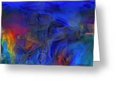 Bull And Cat Azureter Dance Greeting Card