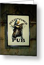 Bull And Finch Pub Greeting Card
