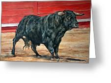 Bull Greeting Card by David McEwen