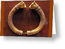 Bull-heads Necklace Greeting Card by Andonis Katanos