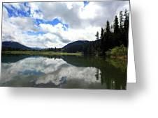Bull Lake Cloud Reflection Greeting Card