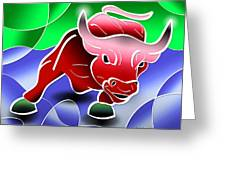 Bull Market Greeting Card