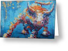 Bull Market X Greeting Card