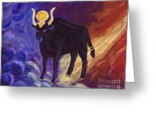Bull Of Heaven Greeting Card