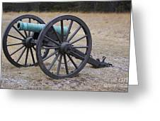 Bull Run Green Cannon In Field Greeting Card