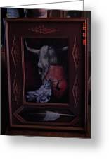 Bull With Indiam Art Greeting Card