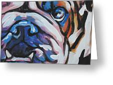 Bulldog Baby Greeting Card