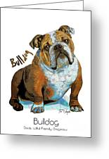 Bulldog Pop Art Greeting Card