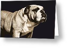 Bulldog Spirit Greeting Card