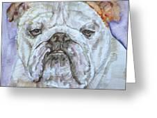 Bulldog - Watercolor Portrait.5 Greeting Card