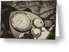 Bullet Speedometer Greeting Card