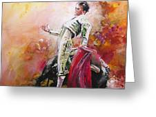 Bullfight 24 Greeting Card