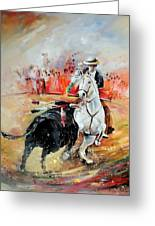 Bullfight 3 Greeting Card