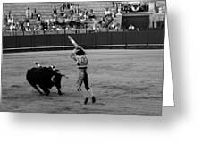 Bullfighting 36b Greeting Card