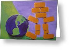 Bullion Supports The World Greeting Card