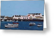 Bulloch Harbour, Dalkey Greeting Card