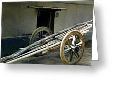 Bullock Cart Greeting Card