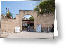 Bullring Entrance In Alcudia Greeting Card