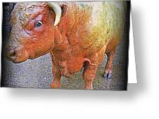 Bulls Eye Greeting Card by Randall Weidner