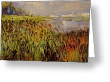 Bulrushes On The Banks Of The Seine 1874 Greeting Card