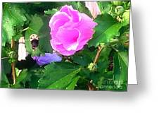 Bumble Bee Flying Away  Greeting Card